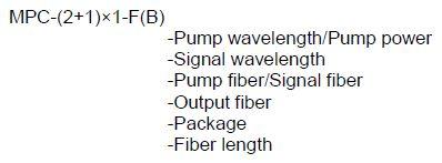 (2+1)x1 Multi-Mode Pump Combiner-ordering info