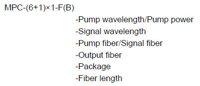 (6+1)x1 Multi-Mode Pump Combiner-ordering info